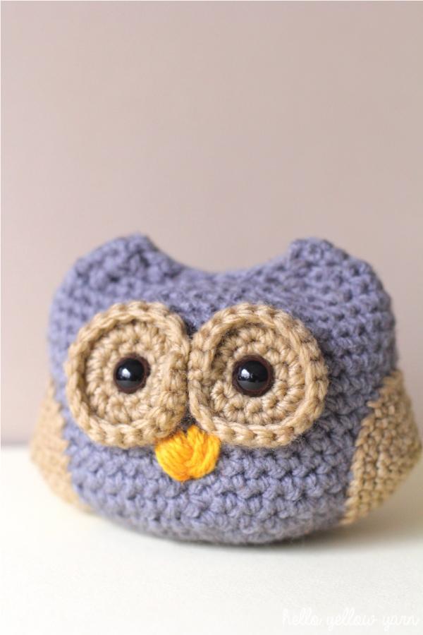 Amigurumi Owl Beak : Dusk the Baby Owl FREE Crochet Pattern Hello Yellow Yarn