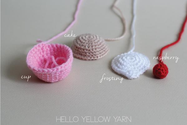 Crocheted Cupcake Free Pattern