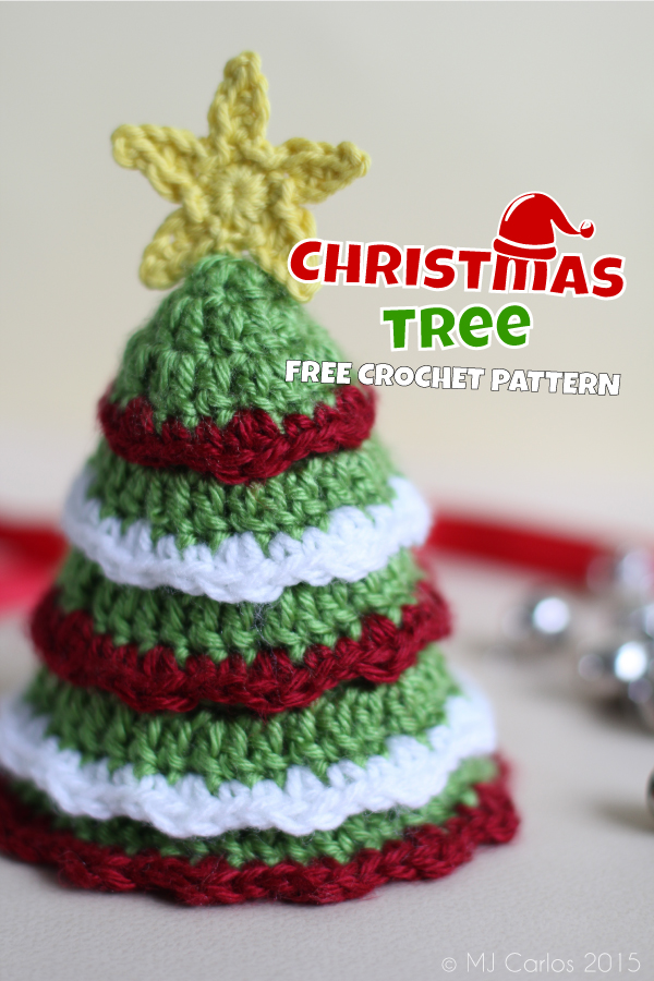 Free Crochet Pattern For Mini Christmas Tree : Christmas Tree ? Free Crochet Pattern Hello Yellow Yarn