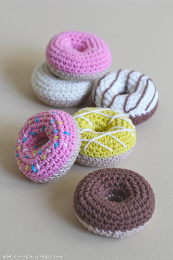 Amigurumi Donut Patron : How to Crochet Donuts [Free Pattern]