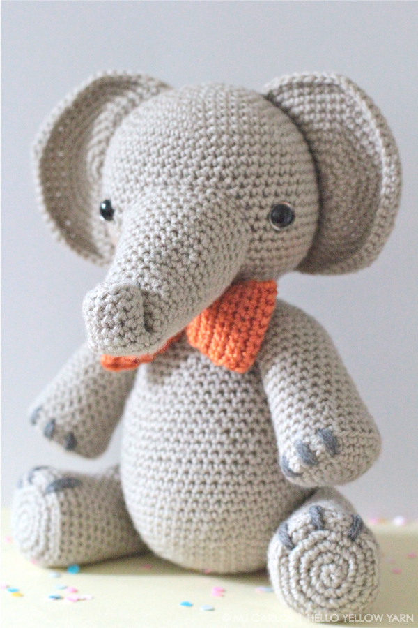 Free Crochet Amigurumi Puppy Pattern : Crochet Amigurumi Elephant Hello Yellow Yarn