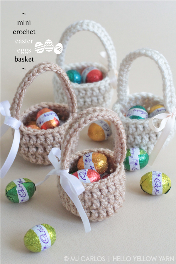 Free Pattern Crochet Easter Basket : Mini Crochet Easter Eggs Basket