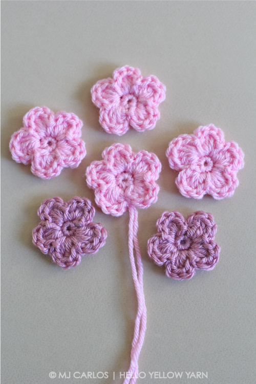 Simple Crochet Flower Pattern And Tutorial Inspiration Crochet Flowers Patterns