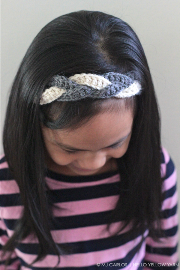 Crochet Braided Headband Tutorial