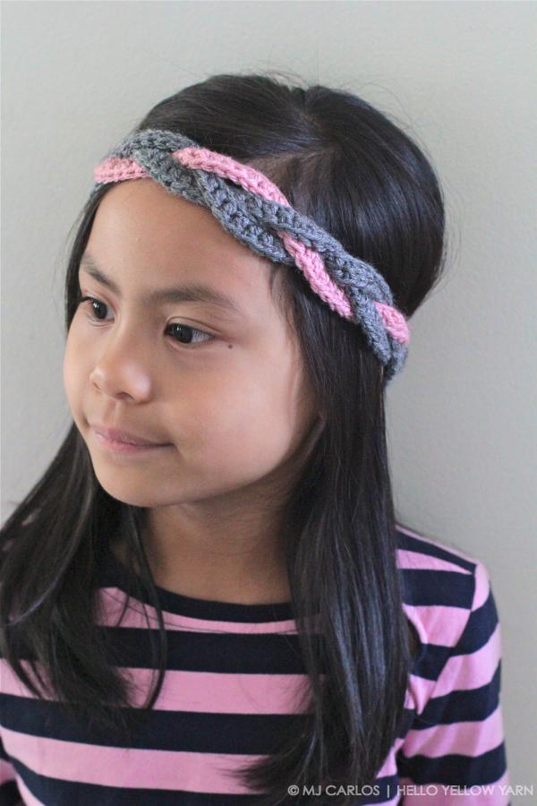 Crochet Braided Headband  Tutorial  2cc51595a25