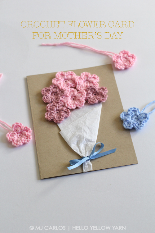 Crochet Patterns For Mother s Day : Crochet Flower Card for Mother s Day