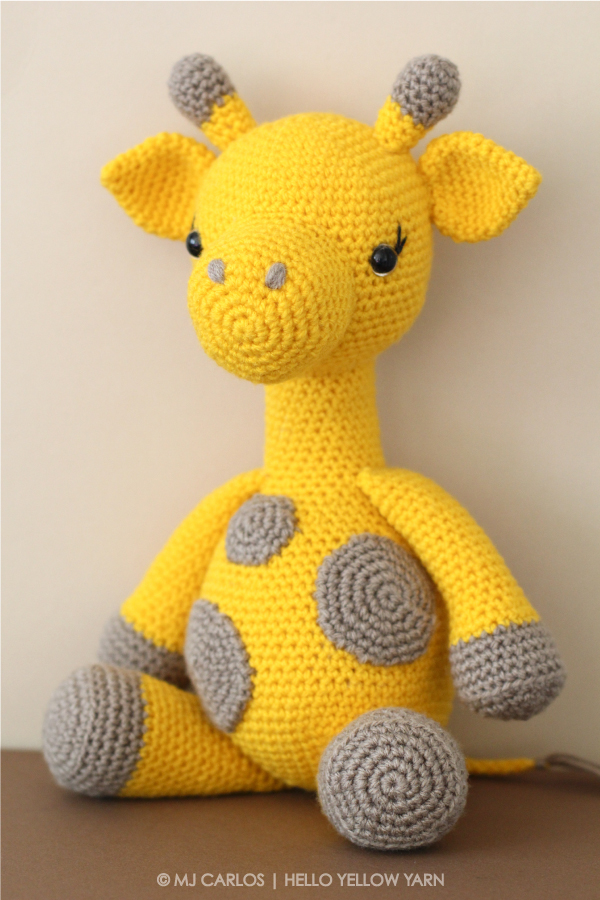 Crochet Amigurumi Patterns Free Beginner : Crochet Amigurumi Giraffe Graceful Gemma