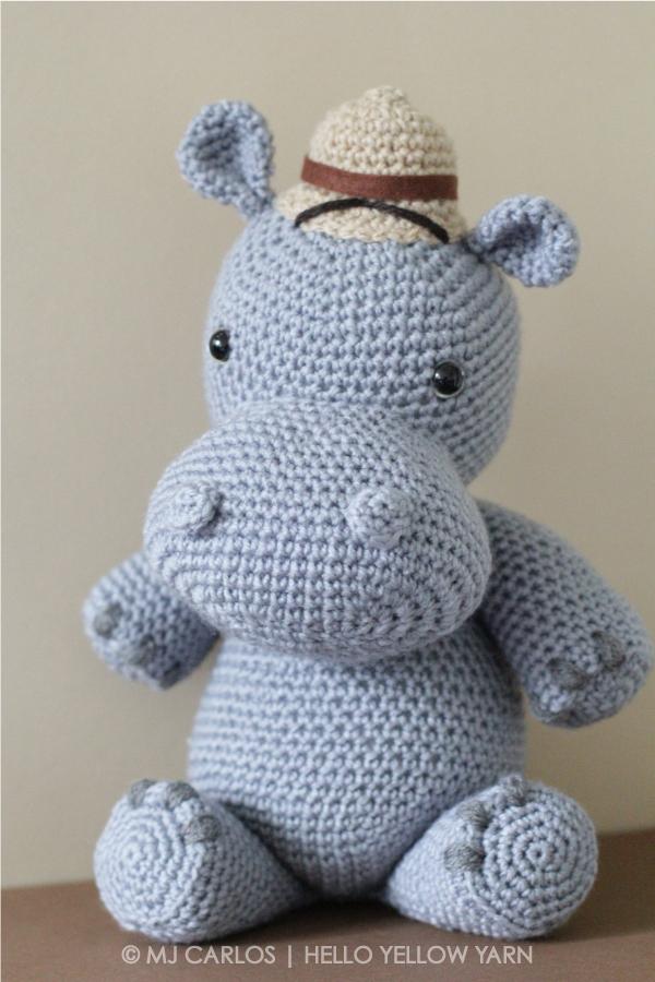 Crochet Amigurumi Hippo ? Harvey Hippo