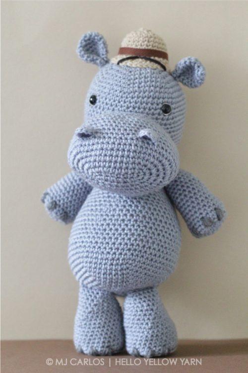 Crochet Amigurumi Hippo Harvey Hippo