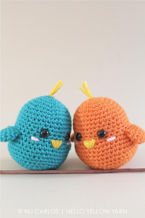 Lovebirds Free Crochet Amigurumi Pattern Hello Yellow Yarn