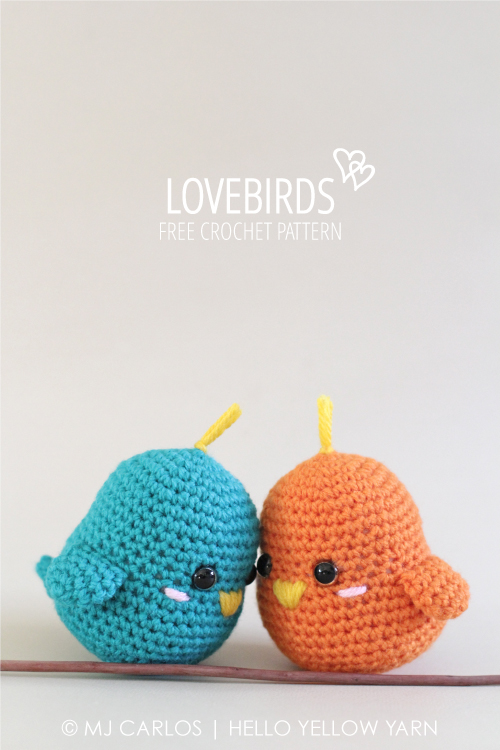 Lovebirds Free Crochet Amigurumi Pattern