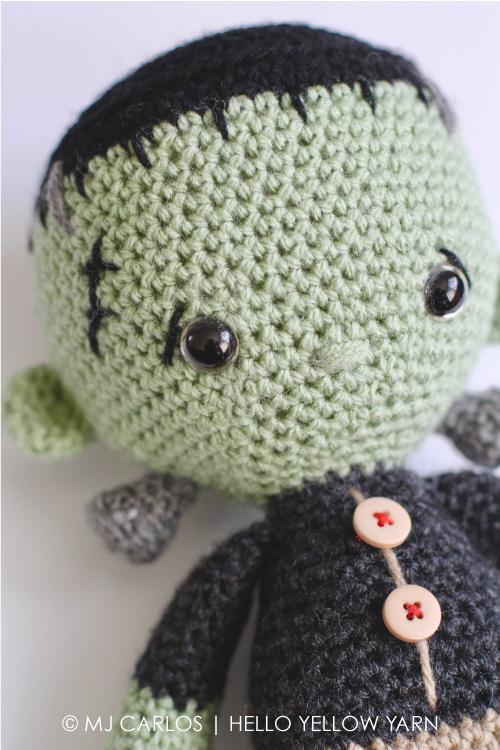 Amigurumi Yarn Ply : Crochet Amigurumi Little Frankenstein Monster Franklin
