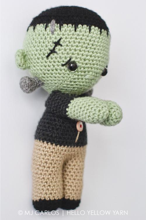Crochet Amigurumi Little Frankenstein Monster Franklin