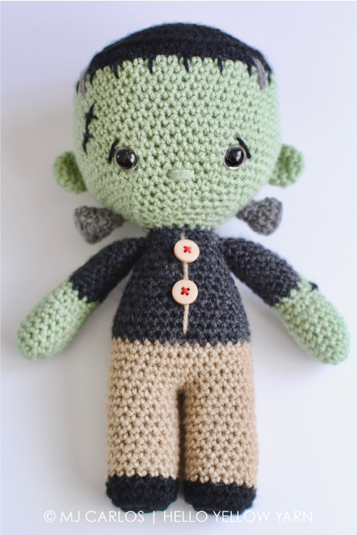 Amigurumi Change Yarn : Crochet Amigurumi Little Frankenstein Monster Franklin