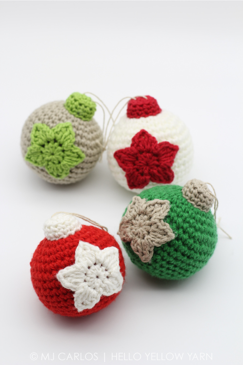 Crochet Christmas Baubles Free Pattern
