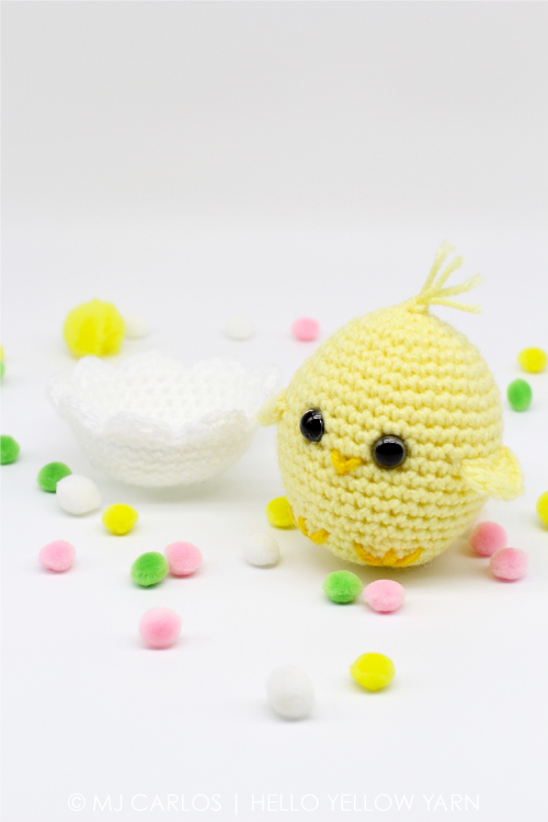 Crochet Baby Chick And Easter Egg Bunny Free Pattern