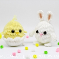 Crochet Baby Chick and Easter Egg Bunny - Free Pattern