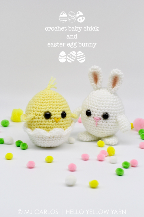 35039c3399c Crochet Baby Chick and Easter Egg Bunny – Free Pattern