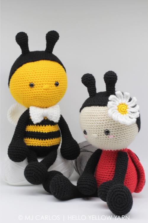 Amigurumi Bumblebee And Ladybug